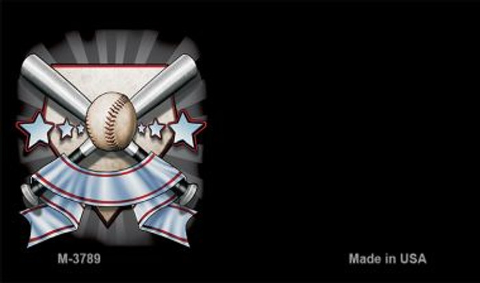 Baseball Banner Offset Novelty Metal Magnet M-3789