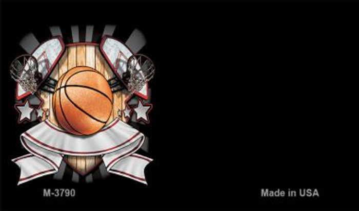 Basketball Banner Offset Novelty Metal Magnet M-3790