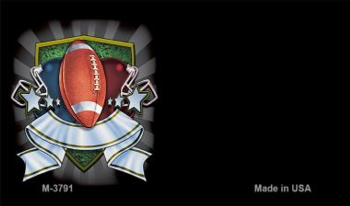 Football Banner Offset Novelty Metal Magnet M-3791
