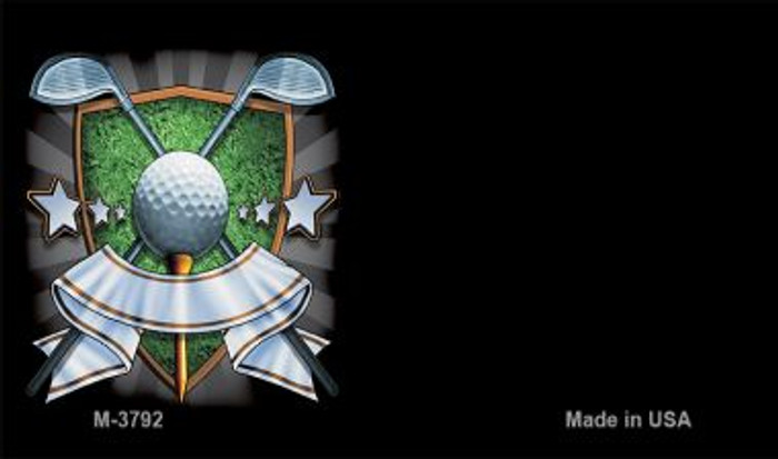 Golf Banner Offset Novelty Metal Magnet M-3792