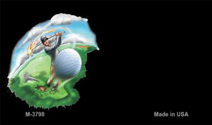 Golf Offset Novelty Metal Magnet M-3798