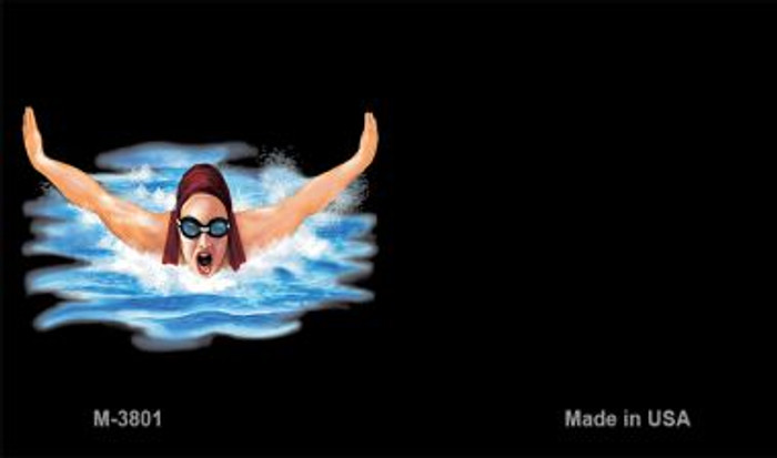 Female Swimmer Offset Novelty Metal Magnet M-3801