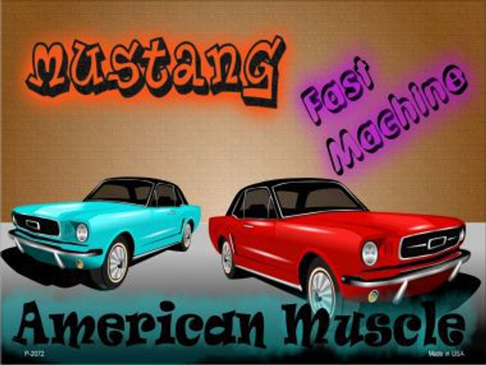 American Muscle Mustang Metal Novelty Parking Sign