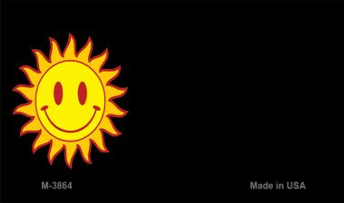 Sun Smiley Offset Novelty Metal Magnet M-3864
