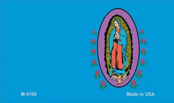 Virgin Mary Blue Offset Novelty Metal Magnet M-4188
