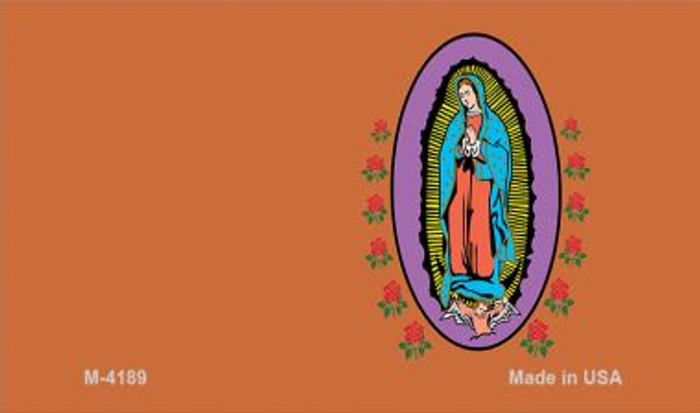 Virgin Mary Copper Offset Novelty Metal Magnet M-4189