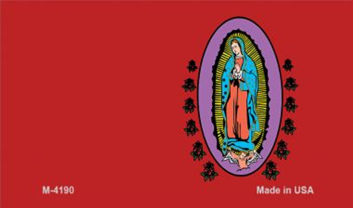 Virgin Mary Red Offset Novelty Metal Magnet M-4190