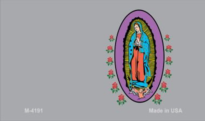 Virgin Mary Gray Offset Novelty Metal Magnet M-4191