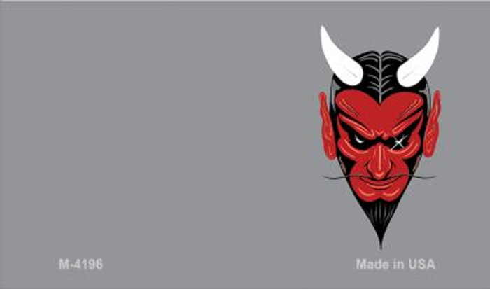 Devil Offset Novelty Metal Magnet M-4196