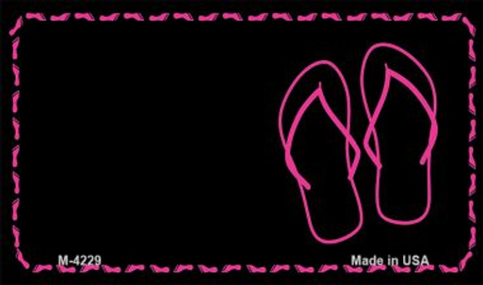 Flip Flops Offset Novelty Metal Magnet M-4229