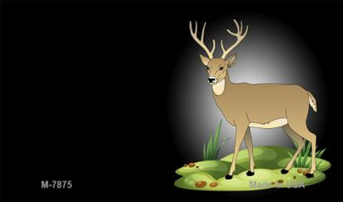 Deer Offset Novelty Metal Magnet M-7875