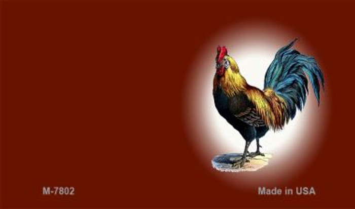 Rooster Red Offset Novelty Metal Magnet M-7802