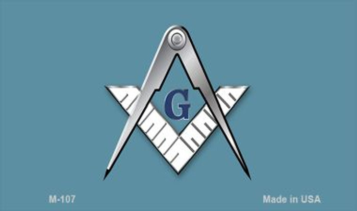 Masons Novelty Metal Magnet M-107