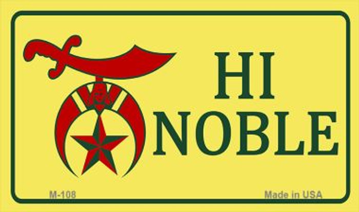 High Noble Novelty Metal Magnet M-108
