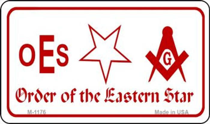 Eastern Star Novelty Metal Magnet M-1176