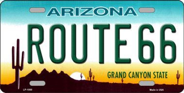 Route 66 Arizona Novelty Metal License Plate
