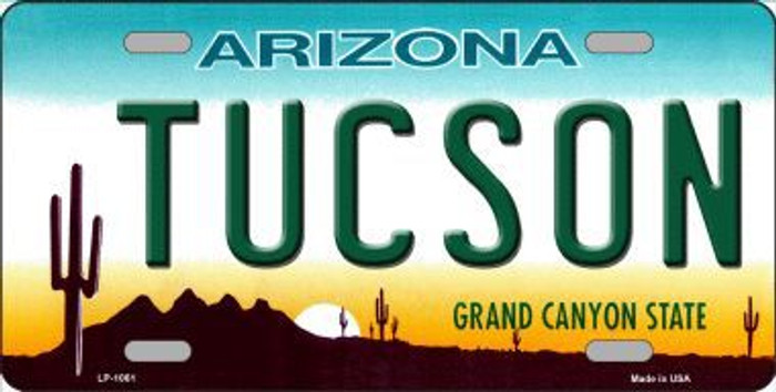 Tucson Arizona Novelty Metal License Plate