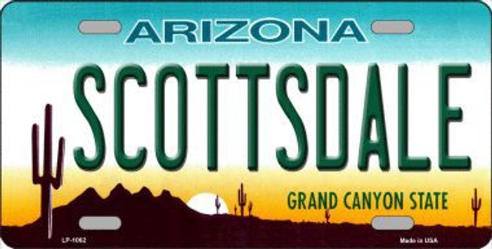 Scottsdale Arizona Novelty Metal License Plate