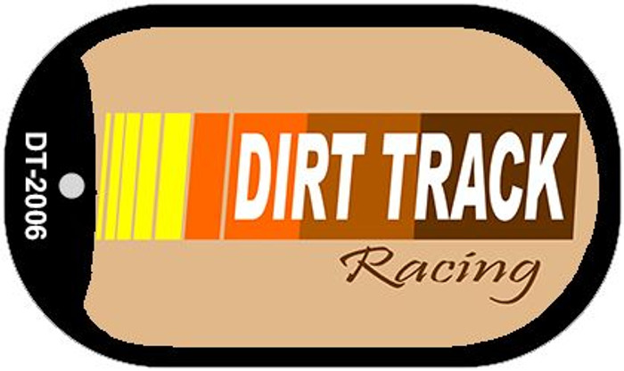 Dirt Track Racing Novelty Metal Dog Tag Necklace DT-2006