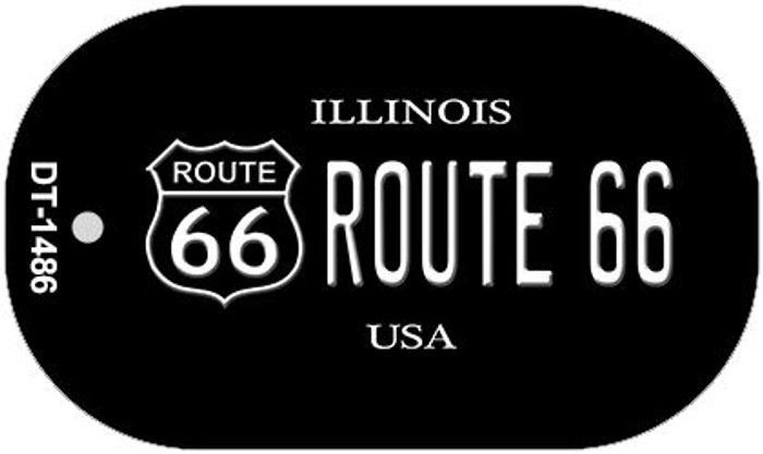Route 66 Illinois Novelty Metal Dog Tag Necklace DT-1486