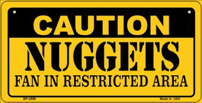 Caution Nuggets Fan Area Novelty Metal Bicycle Plate BP-2599