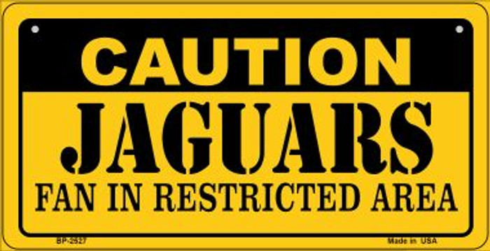 Caution Jaguars Fan Area Novelty Metal Bicycle Plate BP-2527