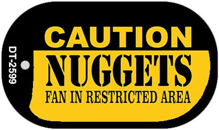Caution Nuggets Fan Area Novelty Metal Dog Tag Necklace DT-2599