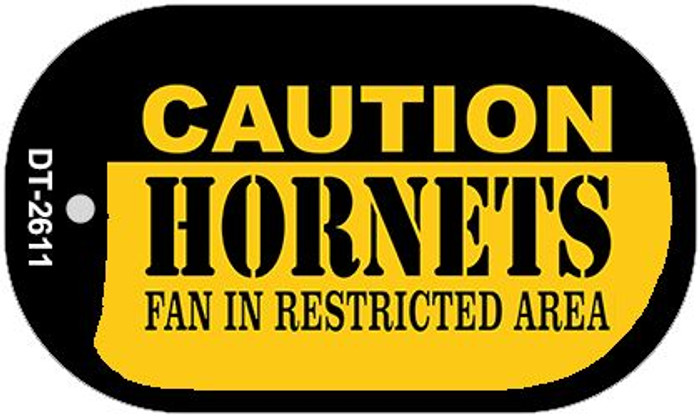 Caution Hornets Fan Area Novelty Metal Dog Tag Necklace DT-2611
