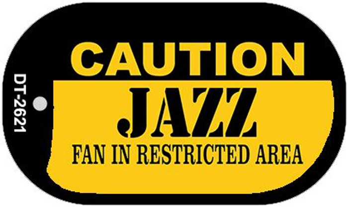 Caution Jazz Fan Area Novelty Metal Dog Tag Necklace DT-2621