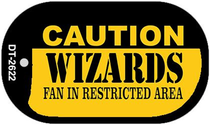 Caution Wizards Fan Area Novelty Metal Dog Tag Necklace DT-2622