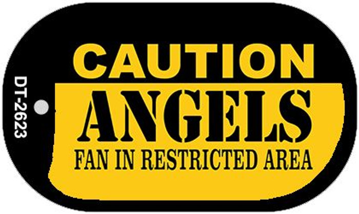 Caution Angels Fan Area Novelty Metal Dog Tag Necklace DT-2623