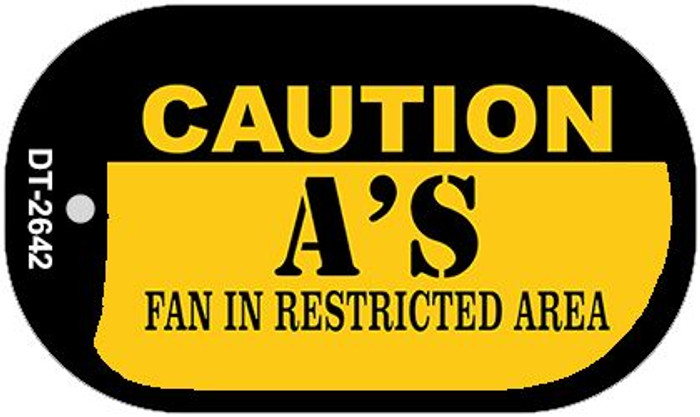 Caution As Fan Area Novelty Metal Dog Tag Necklace DT-2642