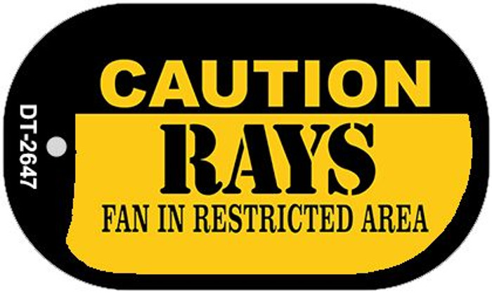 Caution Rays Fan Area Novelty Metal Dog Tag Necklace DT-2647