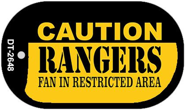 Caution Rangers Fan Area Novelty Metal Dog Tag Necklace DT-2648