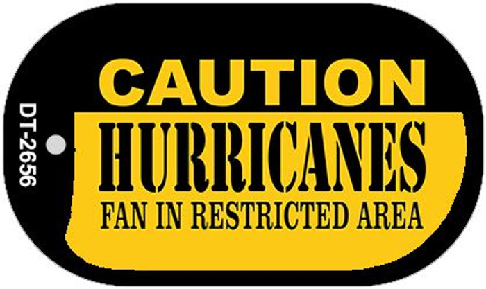 Caution Hurricanes Fan Area Novelty Metal Dog Tag Necklace DT-2656