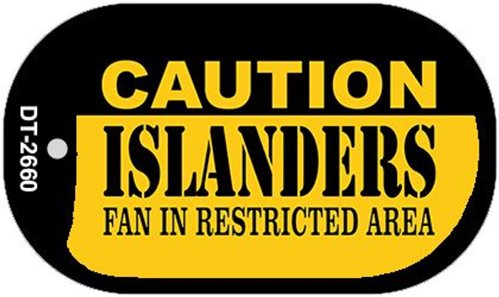 Caution Islanders Fan Area Novelty Metal Dog Tag Necklace DT-2660