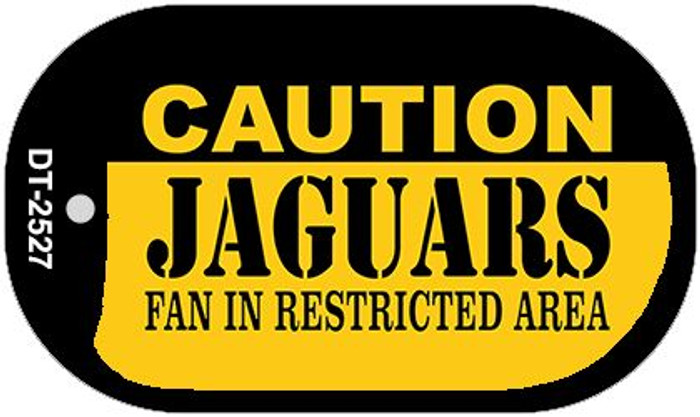 Caution Jaguars Fan Area Novelty Metal Dog Tag Necklace DT-2527