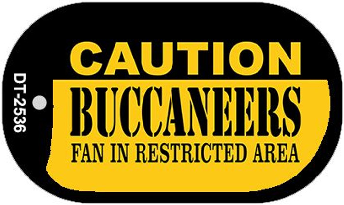 Caution Buccaneers Fan Area Novelty Metal Dog Tag Necklace DT-2536