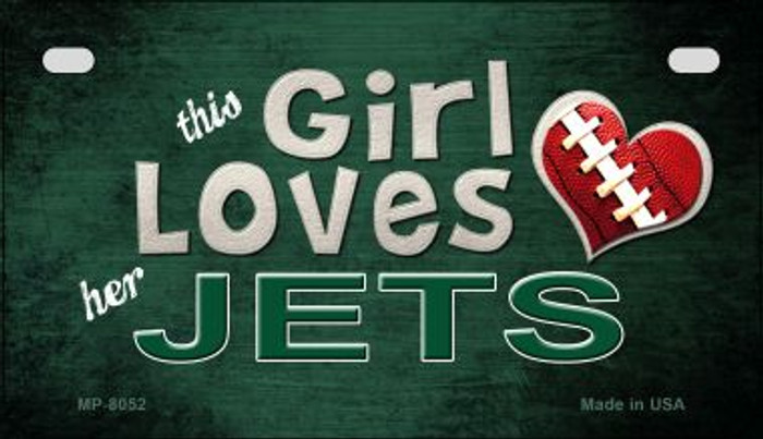This Girl Loves Her Jets Novelty Metal Motorcycle Plate MP-8052