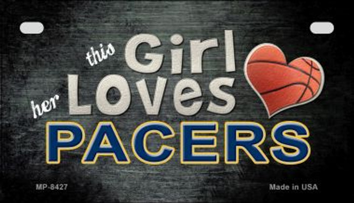 This Girl Loves Her Pacers Novelty Metal Motorcycle Plate MP-8427
