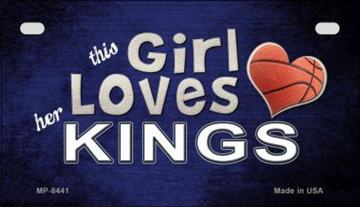 This Girl Loves Her Kings Novelty Metal Motorcycle Plate MP-8441