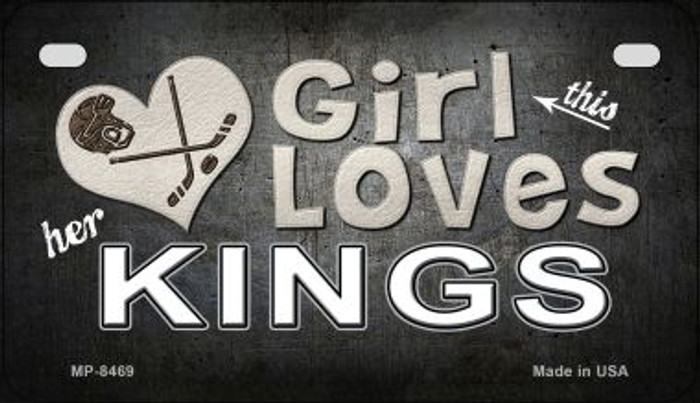 This Girl Loves Her Kings Novelty Metal Motorcycle Plate MP-8469