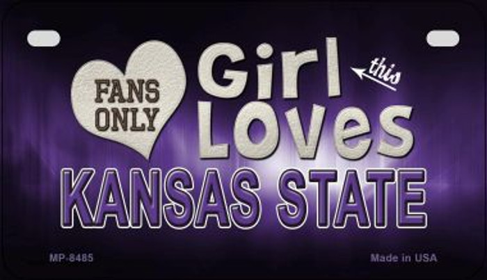 This Girl Loves Her Kansas State Novelty Metal Motorcycle Plate MP-8485