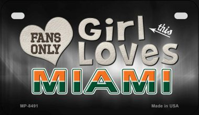 This Girl Loves Her Miami Novelty Metal Motorcycle Plate MP-8491