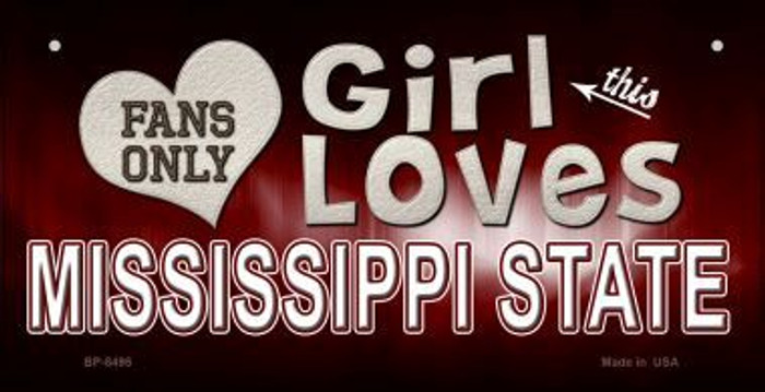 This Girl Loves Her Mississippi State Novelty Metal Motorcycle Plate MP-8495