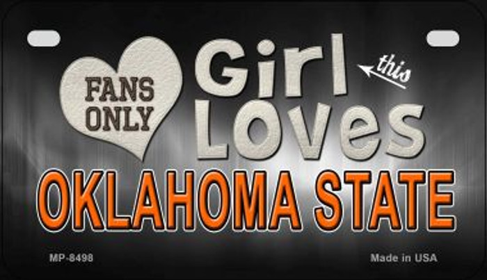 This Girl Loves Her Oklahoma State Novelty Metal Motorcycle Plate MP-8498
