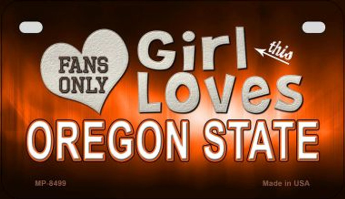 This Girl Loves Her Oregon State Novelty Metal Motorcycle Plate MP-8499