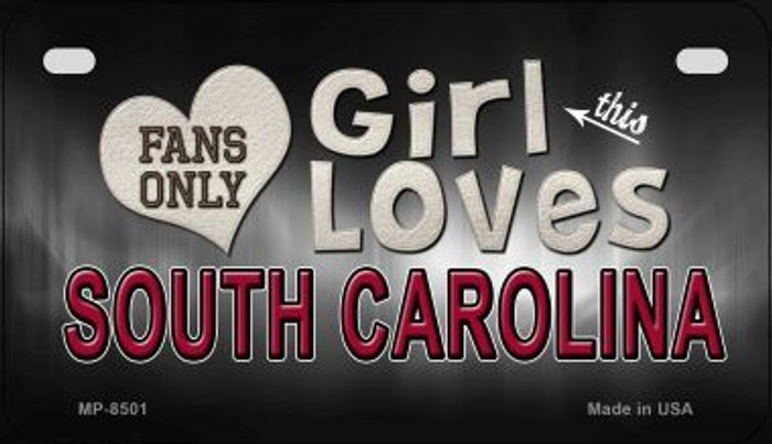 This Girl Loves Her South Carolina Novelty Metal Motorcycle Plate MP-8501