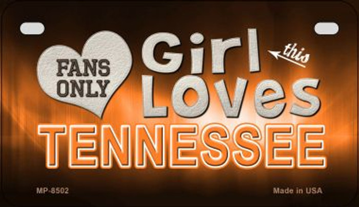 This Girl Loves Her Tennessee Novelty Metal Motorcycle Plate MP-8502