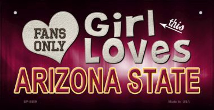 This Girl Loves Her Arizona State Novelty Metal Motorcycle Plate MP-8509